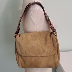 Tylie Malibu Suede Bag with Embellished Strap